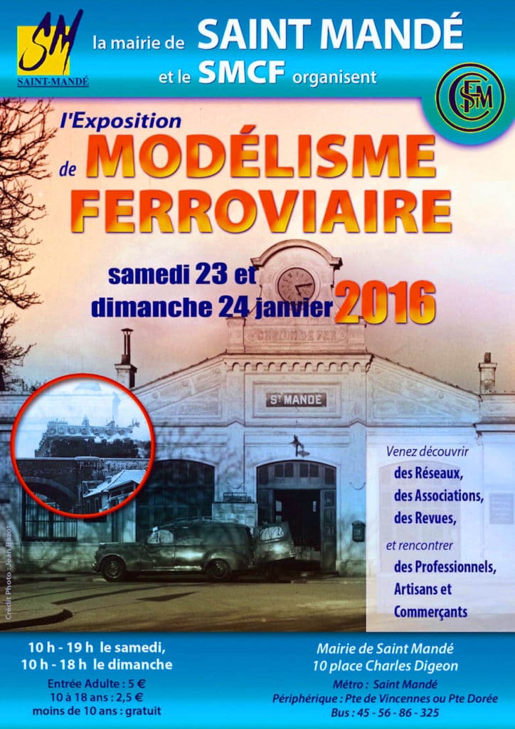 Smf a la manifestation modelisme ferroviaire à st Mandé